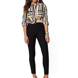 Whitney High-Waist Pull-On Ankle Pant